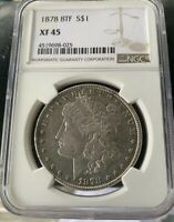 1878 8 TF MORGAN SILVER DOLLAR NGC EXTRA FINE  45   VAM 19 DOUBLED DATE