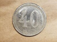 WEIMAR GERMANY 40 WERTE   MARKE TOKEN FORTY PFENNIG COIN