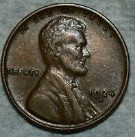 ABOUT UNCIRCULATED 1924 D LINCOLN CENT  SHARP LUSTROUS SPECI