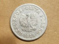 1949 POLAND 50 GROSZY COIN POLISH FIFTY GROZY NICE COMMUNIST COLD WAR RELIC