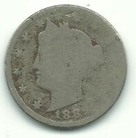 A VINTAGE 1889 LIBERTY HEAD V NICKEL COIN-OLD US COIN-AGT010