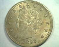 1893 LIBERTY NICKEL CHOICE ABOUT UNCIRCULATED CH. AU  ORIGINAL BOBS COINS