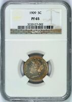1909 PROOF LIBERTY NICKEL 5C NGC PF65 V-NICKEL