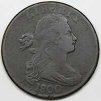 1800/1798 DRAPED BUST LARGE CENT F VF DETAIL