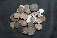 LOT OF 38 LOW GRADE TYPE COINS DIME LARGE CENT NICKEL 3C HAL