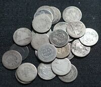 LOT OF 25 LIBERTY SEATED DIMES TEN CENTS 10C SILVER COINS