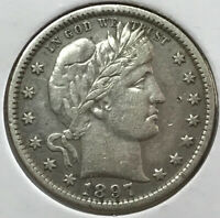 1897   BARBER QUARTER   90  SILVER CENT 25 US COIN   COINAGE