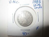 OLD US COIN  1883 WITH CENTS LIBERTY HEAD V NICKEL KEY DATE LOT OF 1