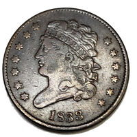 1833 CLASSIC HEAD HALF CENT DETAILS: SCRATCHES ON THE REVERS