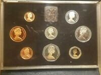 1983 UNITED KINGDOM PROOF SET 8 COINS CANADA FARTHING THROUGH 1 GREAT BRITAIN