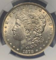 1878 7TF REV OF '79 MORGAN SILVER DOLLAR NGC MINT STATE 62  OLD SILVER DOLLAR