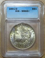 1891-O MINT STATE 64 MORGAN SILVER DOLLAR UNCIRCULATED UNC