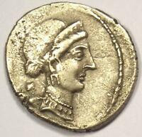 JULIUS CAESAR AR DENARIUS COIN  49 44 BC VENUS    VF CONDITION  VERY FINE