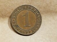 1929 A GERMANY 1 PFENNIG GERMAN 1 CENT ONE PENNY COIN