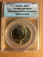 2002-D KENNEDY HALF DOLLAR ANACS MINT STATE 67  ONE OF ONLY A FEW GRADED THIS HIGH