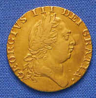 1788 BRITISH GUINEA GOLD. RARE. NO RESERVE.