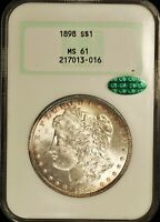 1898  1 NGC MINT STATE 61  CAC 217013-016