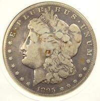 1895-S MORGAN SILVER DOLLAR $1 - ANACS FINE DETAILS -  CERTIFIED COIN