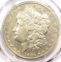 1904-S MORGAN SILVER DOLLAR $1 - PCGS EXTRA FINE  DETAILS-  DATE CERTIFIED COIN