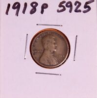 1918 P LINCOLN WHEAT CENT 5925,  FINE-NATURAL PATINA-SHIPS FREE