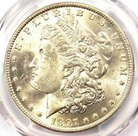 1897-O MORGAN SILVER DOLLAR $1 - PCGS UNCIRCULATED DETAIL -  DATE IN UNC/MS