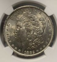 1882 O MINT STATE 62 MORGAN DOLLAR   OLD SILVER DOLLAR NGC GRADED MS CERTIFIED