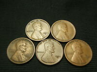 1918-S 1921-S 1924-S 1925-S 1927-S  ALL VF OR BETTER LINCOLN  CENTS