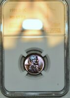 NGC MS 65 RB 1931 D LINCOLN CENT  GORGEOUSLY TONED SPECIMEN