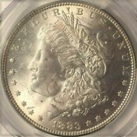 1883-P $1 SILVER MORGAN DOLLAR  PCGS MINT STATE 63  GORGEOUS COIN