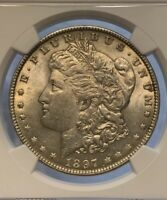 1897 MINT STATE 62 MORGAN SILVER DOLLAR NGC GRADED CERTIFIED UNC MS