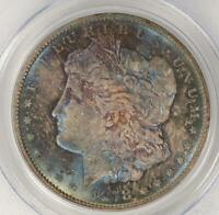 1878 CC MORGAN SILVER DOLLAR PCGS MINT STATE 63 STUNNING COLOR DOUBLEJCOINS - 2007-71