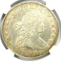 1801 DRAPED BUST SILVER DOLLAR $1 - CERTIFIED NGC AU DETAILS -  COIN IN AU