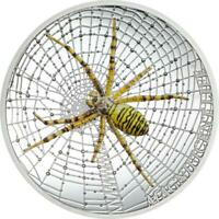 COOK ISLANDS 2016 5$ MAGNIFICENT LIFE   WASP SPIDER 1 OZ SIL