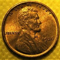 UNCIRCULATED 1926 LINCOLN WHEAT CENT. BU RED AND BROWN PENNY