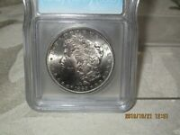 1885-S MORGAN $1 ICG CERTIFIED MINT STATE 64