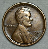 VERY FINE 1909 S VDB LINCOLN CENT  SHARP BROWN SPECIMEN