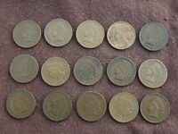 INDIAN HEAD CENTS   LOT A   COLLECTION OF 15 OLD PENNIES COI