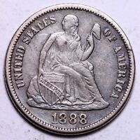 EXTRA FINE  1888-S SEATED LIBERTY DIME           J1KB