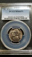 1950 D JEFFERSON NICKEL PCGS MS66 FS