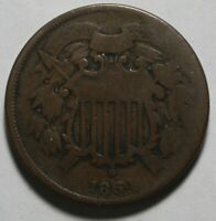1864 2 CENT PIECE SMALL MOTTO PM94