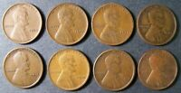 1910, 11, 14, 11 D, 15 D, 18, 19 S, 33 D LINCOLN WHEAT CENT 1C SHIPS FREE