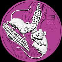 AUSTRALIA 2020 1$ YEAR OF THE MOUSE 1 OZ SILVER COIN SPACE P