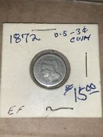 1872   3 CENT COPPER NICKEL US COIN