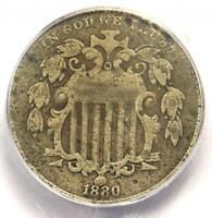 1880 SHIELD NICKEL 5C   CERTIFIED ICG VF20 DETAILS    DATE COIN
