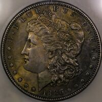 1886 S MORGAN SILVER DOLLAR ICG AU 58 WELL STRUCK EXAMPLE