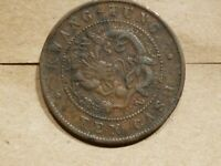 1906  KWANTUNG 10 CASH CHINA PROVINCE COPPER DRAGON COIN CHINESE Y193