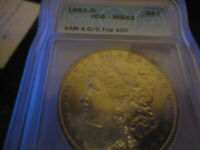1883--O  ICGMINT STATE 63 VAM 4.0/0 TOP 100 MORGAN SILVER DOLLAR LISTS $200