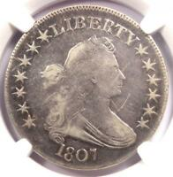 1807 DRAPED BUST HALF DOLLAR 50C - CERTIFIED NGC VF DETAIL -  COIN