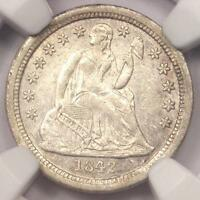 1842-O SEATED LIBERTY DIME 10C - NGC AU DETAILS -  DATE COIN