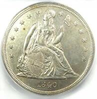 1840 SEATED LIBERTY SILVER DOLLAR $1   CERTIFIED ICG MS62  UNC BU    $9380 VALUE